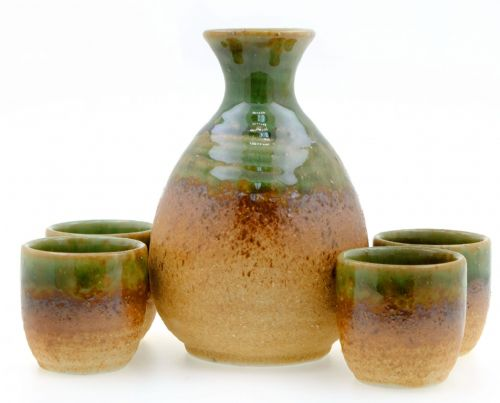 Rock Pool sake set 4 cups- Japanese